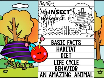 FLIPBOOK Bundle : Beetles - Insects : Research, Report, Bugs, Life Cycle