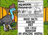 FLIPBOOK SET : Cassowaries - Oceania Animals : Research, Report, Australia