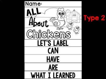 FLIPBOOK Bundle : Chickens - Farm Animals: Research, Report, Chicks