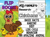 FLIPBOOK Set : Chickens - Farm Animals: Research, Report, Chicks
