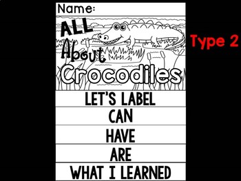 FLIPBOOK Bundle : Crocodiles - Zoo Animals : Research, Report, Safari