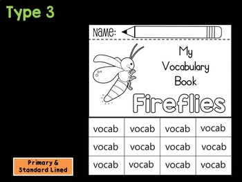 FLIPBOOK Bundle : Fireflies - Insects : Research, Report, Bugs, Life Cycle