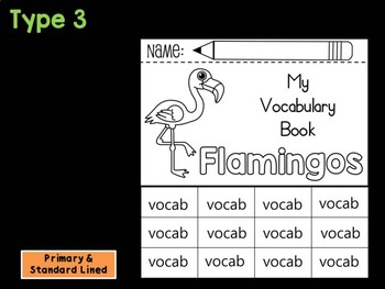 FLIPBOOK Bundle : Flamingos - Zoo Animals : Research, Report, Safari