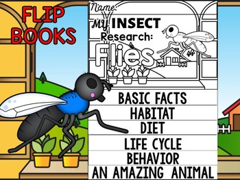 FLIPBOOK Bundle : Flies - Insects : Research, Report, Bugs, Life Cycle