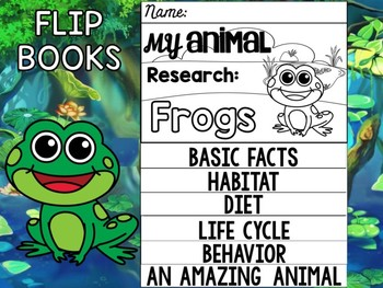 FLIPBOOK Bundle : Frogs - Farm and Pond Animals : Research, Report