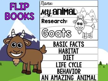 FLIPBOOK Bundle : Goats - Farm Animals : Research, Report, Mountain