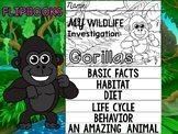 FLIPBOOK Bundle : Gorillas - Rainforest Animals: Research, Report, rain forest