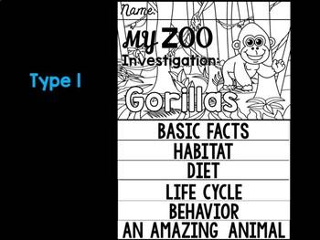 FLIPBOOK Bundle : Gorillas - Zoo Animals : Research, Rainforest, Safari