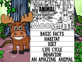 FLIPBOOK Bundle : Moose - Forest Animals : Research, Repor