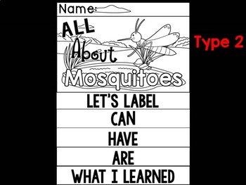 FLIPBOOK Bundle : Mosquitoes - Insects : Research, Report, Bugs, Life Cycle