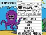 FLIPBOOK Bundle : Octopus - Sea Ocean Animals : Research, Report, Writing