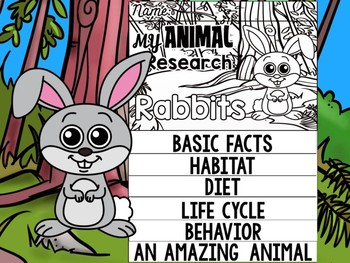 FLIPBOOK Bundle : Rabbits- Forest Animals : Research, Report, Woodland