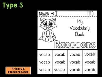 FLIPBOOK Bundle : Raccoons - Forest Animals : Research, Report, Woodland