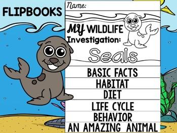 FLIPBOOK Bundle : Seals - Sea Ocean Animals : Research, Report, Animal, Mammals