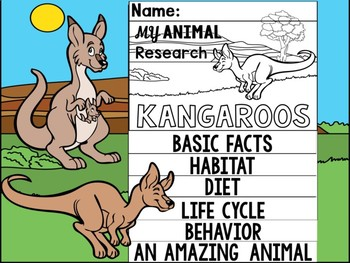 FLIPBOOK SET : Kangaroos - Australian Animals : Research, Report, Marsupial