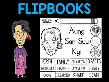 FLIPBOOKS : Aung San Suu Kyi