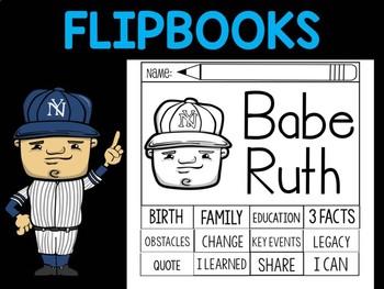 FLIPBOOKS Bundle  : Babe Ruth Flipbook