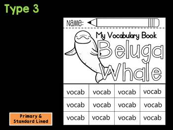 FLIPBOOKS : Beluga Whale -  Polar Animals : Research, Writing, and Vocabulary