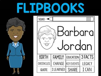 FLIPBOOKS Bundle : Barbara Jordan - Black History