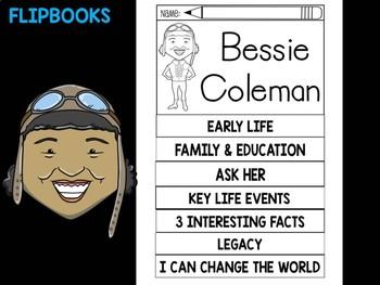 FLIPBOOKS Bundle : Bessie Coleman - Black History