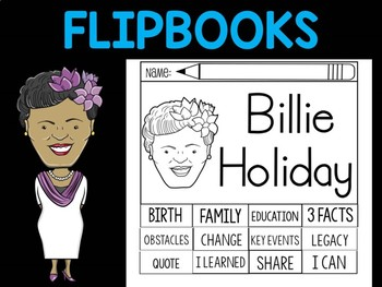 FLIPBOOKS Bundle : Billie Holiday - Black History