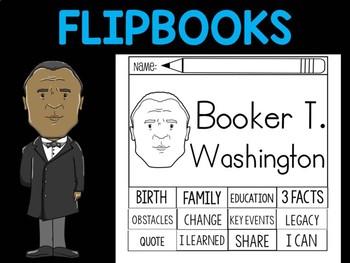 FLIPBOOKS Bundle : Booker T. Washington  - Black History