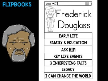 FLIPBOOKS Bundle : Frederick Douglass  - Black History