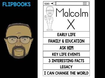 FLIPBOOKS Bundle : Malcolm X -  Black History