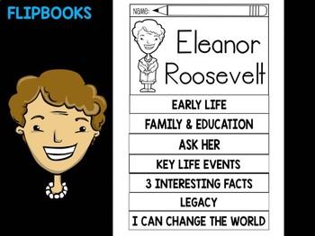 FLIPBOOKS Bundle : Eleanor Roosevelt Flip book