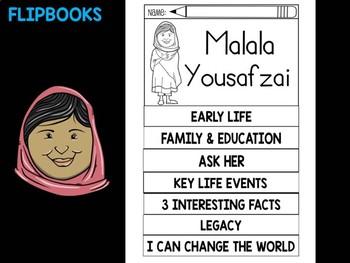 FLIPBOOKS Bundle : Flip book - Malala Yousafzai