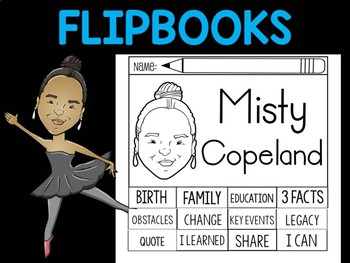 FLIPBOOKS Bundle : Flip book - Misty Copeland - Black History