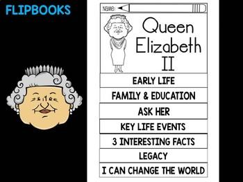 FLIPBOOKS Bundle : Flip book - Queen Elizabeth II