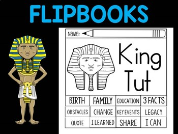 FLIPBOOKS Bundle : Flipbook -  King Tut,  Egypt Pharaoh