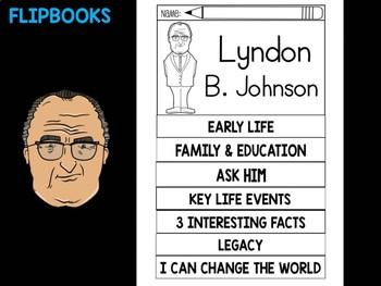FLIPBOOKS Bundle : Flipbook - Lyndon B. Johnson, US President
