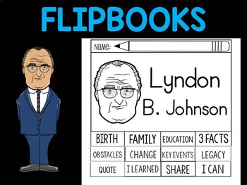 FLIPBOOKS Bundle : Flipbook - Lyndon B. Johnson, US President