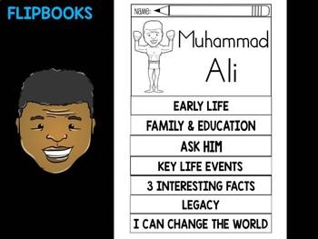 FLIPBOOKS Bundle : Flipbook -  Muhammad Ali - Black History