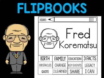 FLIPBOOKS Bundle : Fred Korematsu Flip book