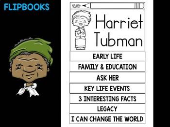 FLIPBOOKS Bundle : Harriet Tubman Flip book