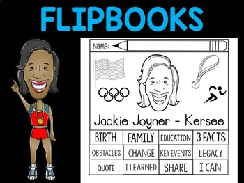 FLIPBOOKS Bundle : Jackie Joyner-Kersee - flip book