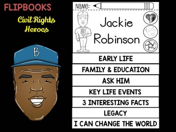 FLIPBOOKS : Jackie Robinson - Civil Rights Heroes