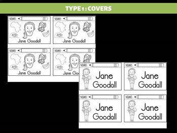FLIPBOOKS : Jane Goodall - flip book