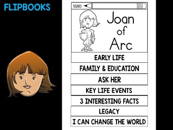 FLIPBOOKS Bundle : Joan of Arc - flip book