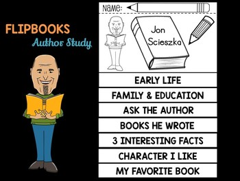 FLIPBOOKS  Bundle : Jon Scieszka - Author Study and Research