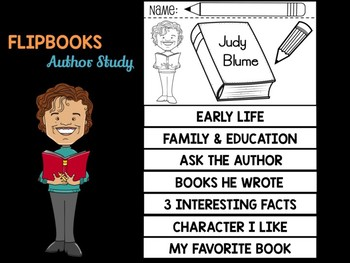 FLIPBOOKS Bundle : Judy Blume - Author Study and Research