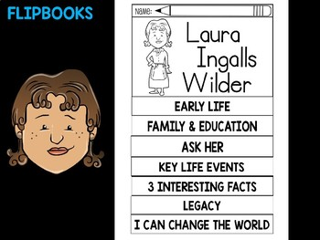 FLIPBOOKS : Laura Ingalls Wilder - flip book