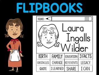 FLIPBOOKS Bundle : Laura Ingalls Wilder - flip book