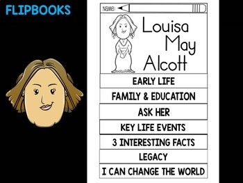 FLIPBOOKS : Louisa May Alcott - flip book