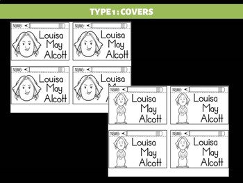 FLIPBOOKS Bundle : Louisa May Alcott - flip book