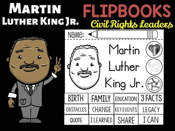 FLIPBOOKS Bundle : Martin Luther King Jr. - Civil Rights Heroes, MLK