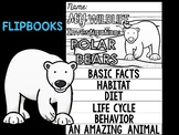 FLIP BOOK Bundle : Polar Bears - Arctic Polar Animals : Research, Writing, Vocab